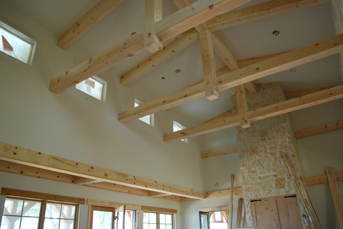 Lake and garden wood craft ceiling beams cabinets for Adding wood beams to ceiling