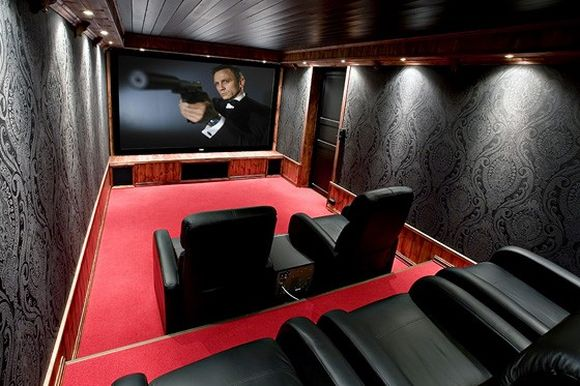 Artbymatt 2008 movie room ideas for Wallpaper home cinema