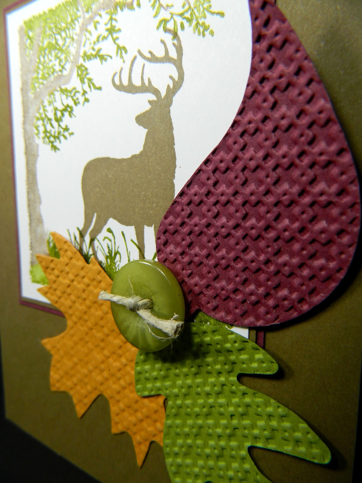Stamps Nature Silhouettes Ink Soft Suede Old Olive Paper Bravo Burgundy More Mustard Whisper White