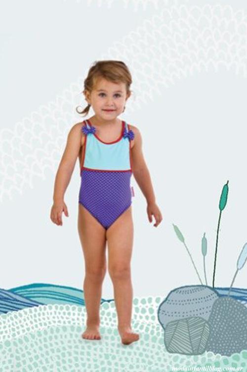 trajes de baño infantiles brillantina verano 2014