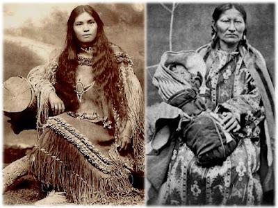 Mujer desnuda nativa americana