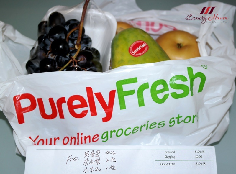 purelyfresh online grocery store free fruits