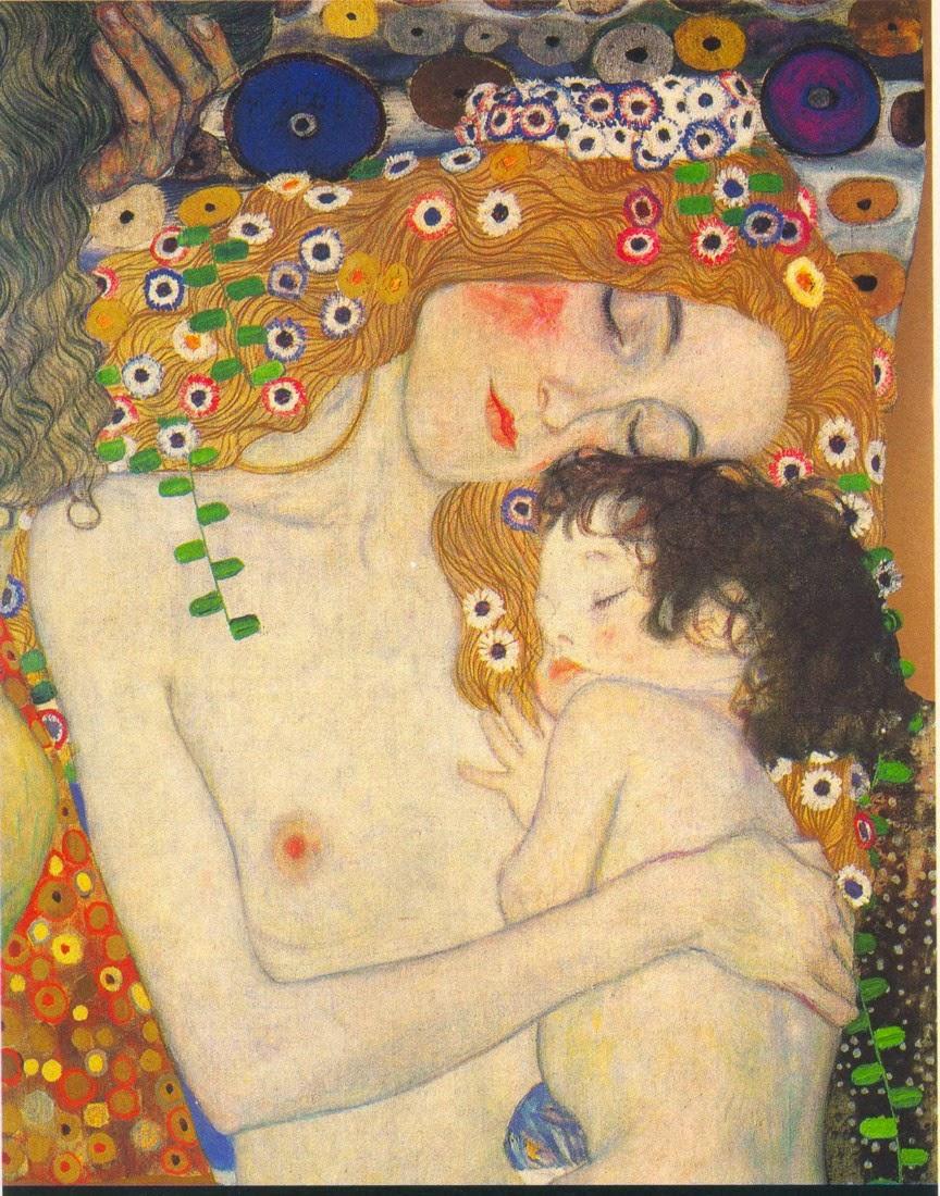 colecho gustav klimt maternidad