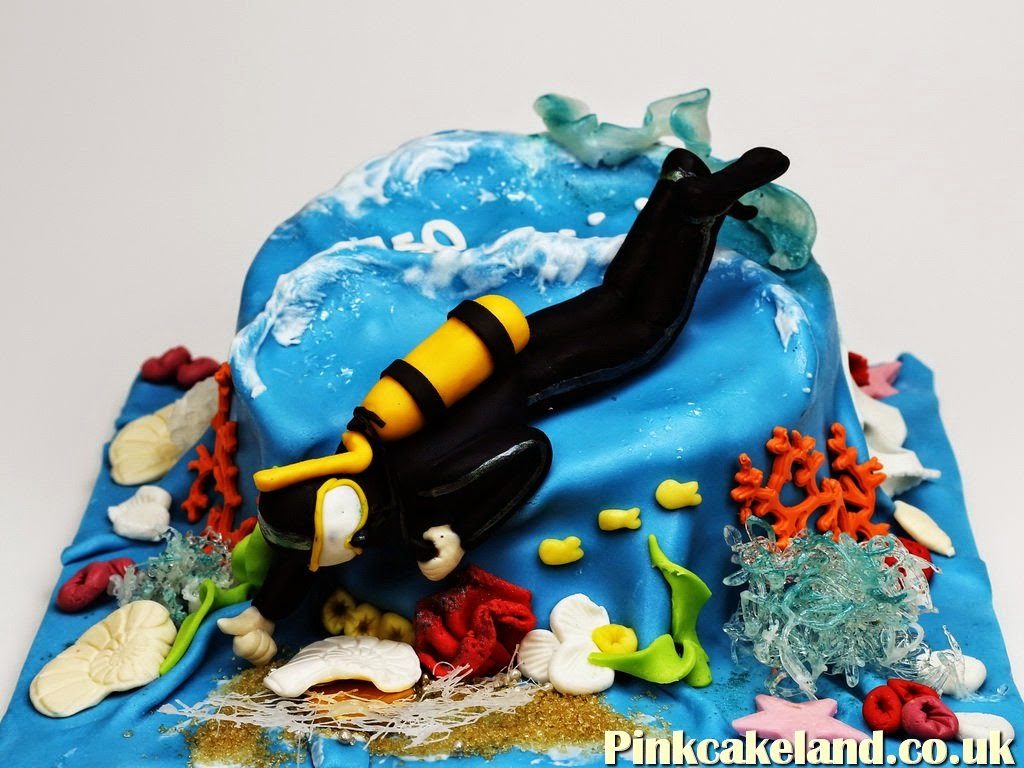 Scuba Dive Birthday Cake in London