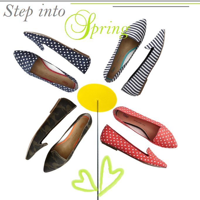 Pointy Toe Flats, Striped Flats, Polka Dot Flats