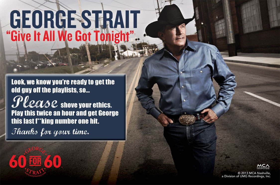 George Strait 60 for 60  Honest Radio Promo AdGeorge Strait Truck