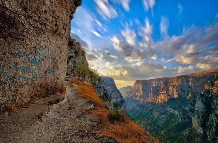 каньон Викос пейзаж