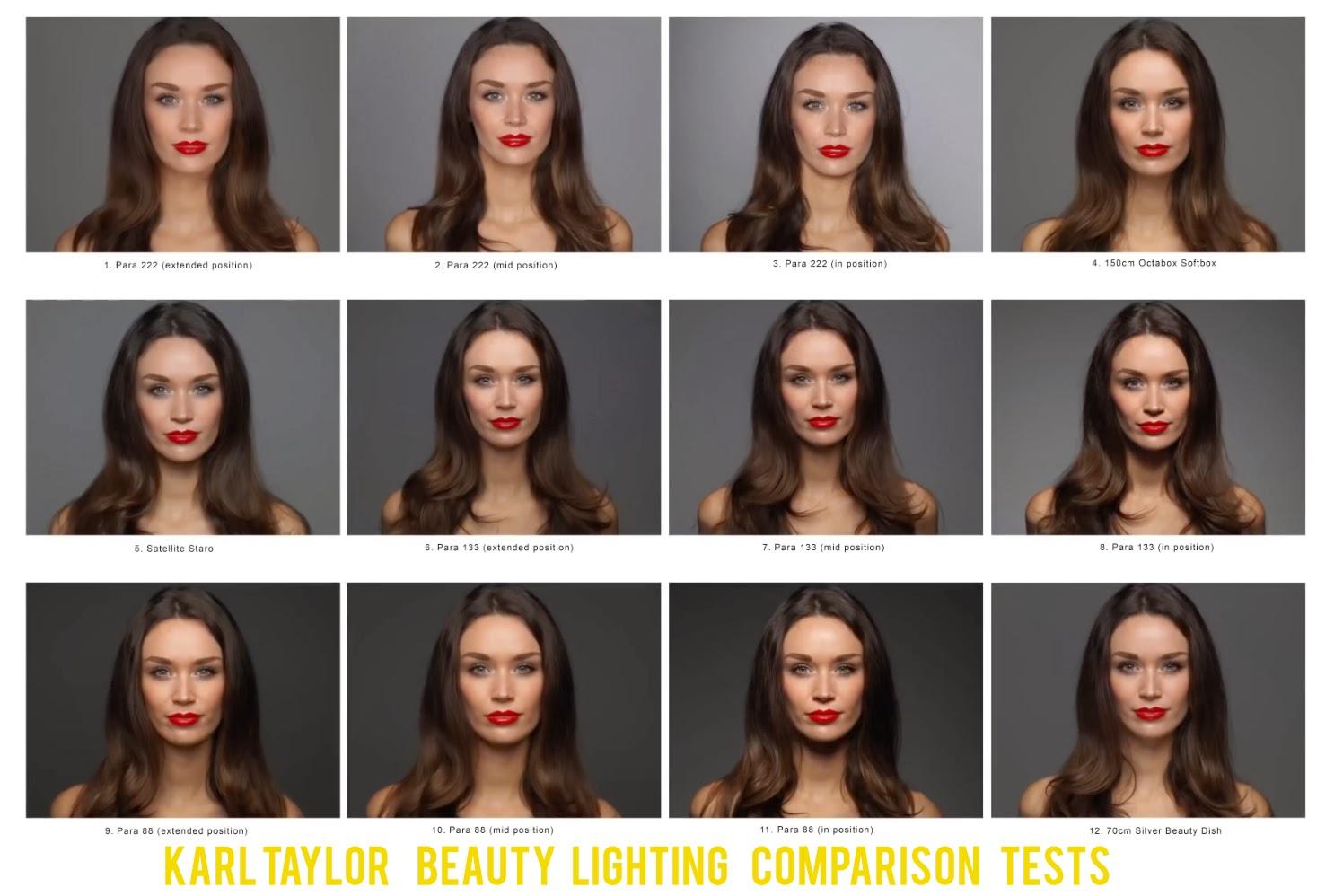 Beauty Lighting Comparison Tests: Broncolor Parabolic vs Beauty Dish vs Octabox by Karl Taylor
