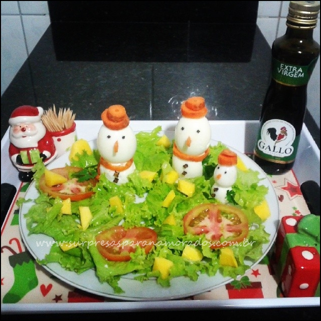 salada para natal