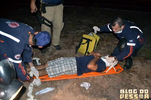 Queda de moto deixa homem ferido na BR 343 em Parnaíba