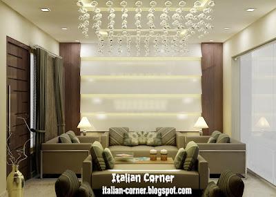 Modern italian living room designs with lighting ideas for Living room ceiling lighting ideas
