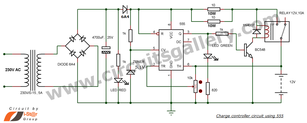 - This is one circuit schematic diagram of 12v Battery Charger with Auto Cut off using NE555 IC that very useful for...