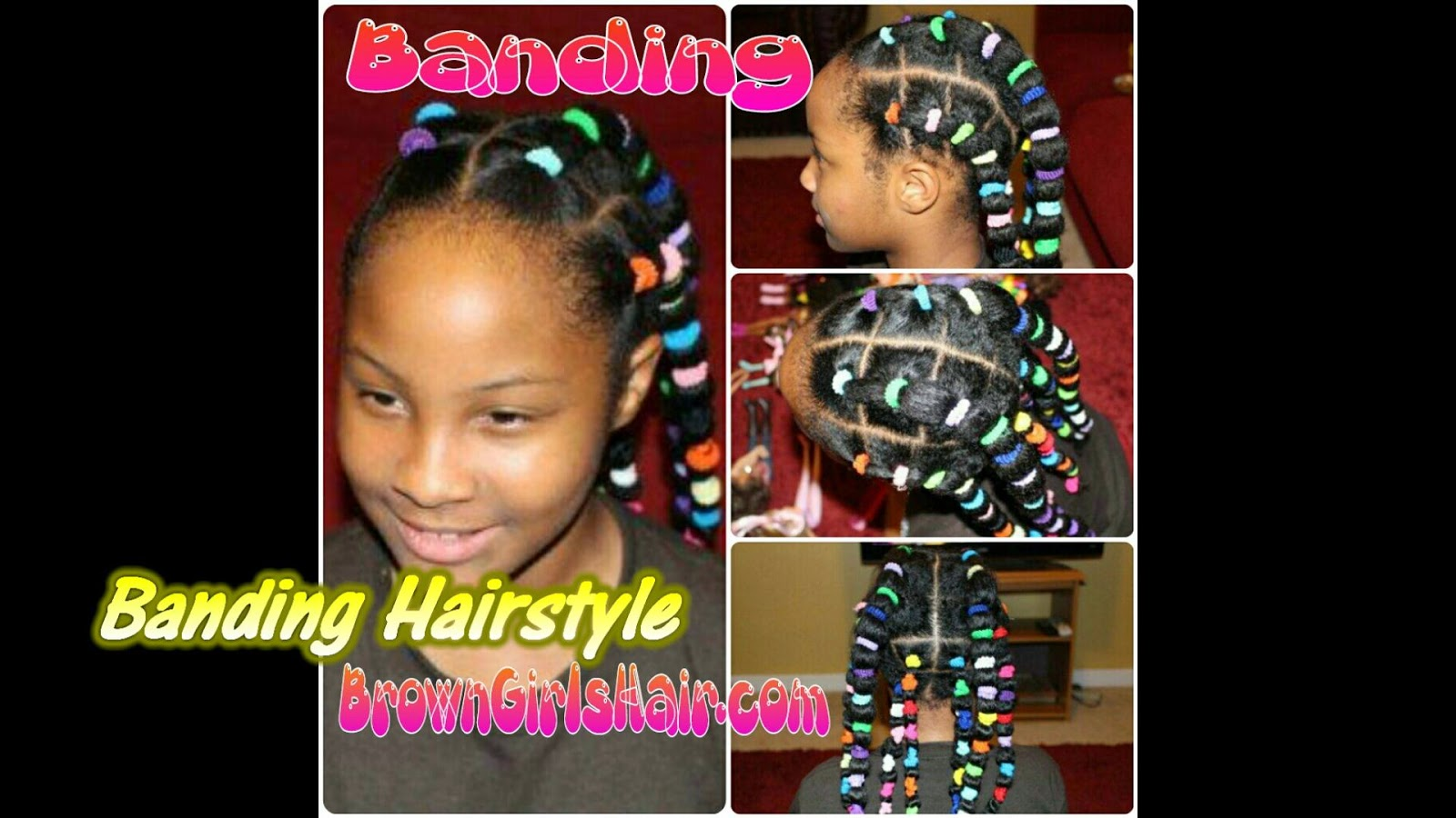 banding, natural, girls, hair, stretch, no heat, straightening, black hair