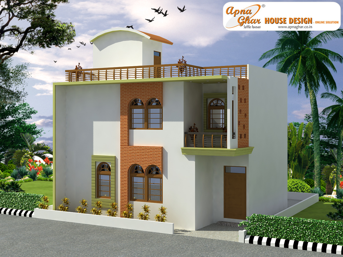4 Bedrooms Duplex House Design In 72m2 9m X 8m Fresh Home Ideas