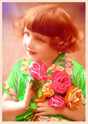 postal vintage niño