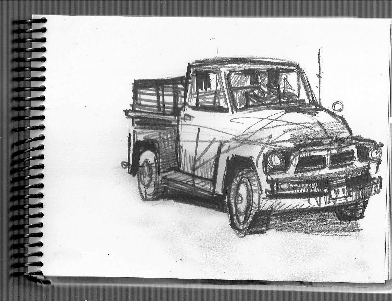 Desenhos Preto e Branco desenhos de caminhonete e fusca para copiar Colorir