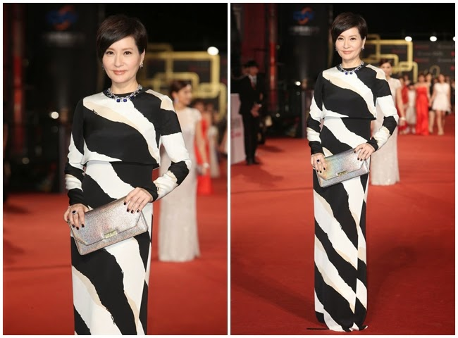 2014 Golden Bell Awards: Fang Fang-Fang wore the same Gucci gown with Lily Allen、Rachel Zoe、Camilla Belle、Sonam Kapoor