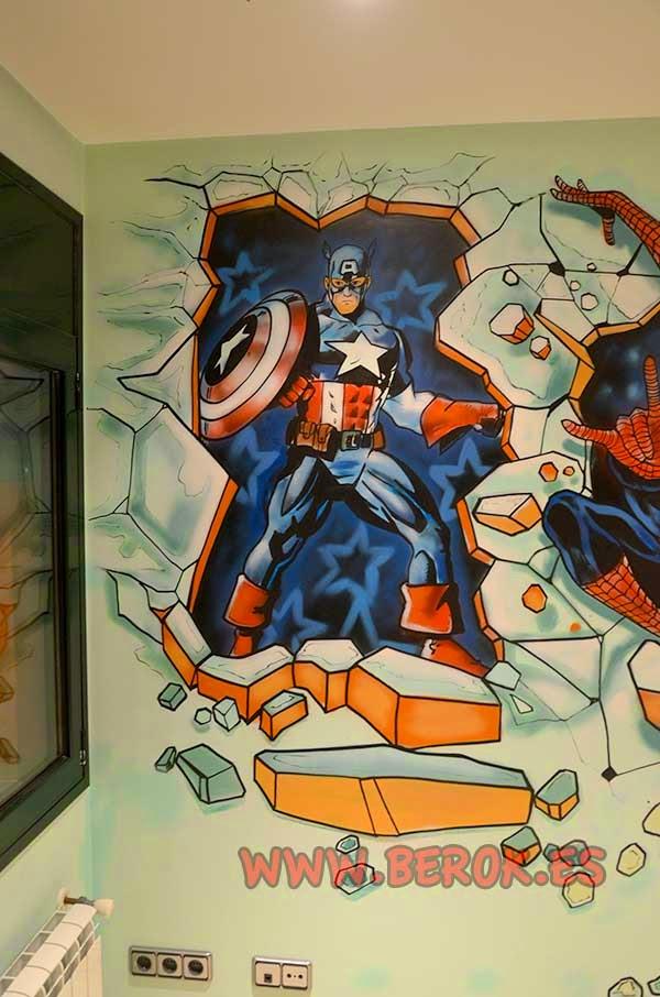 mural Capitan América