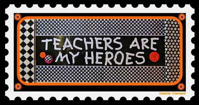 Teachers are my Heroes Bumper Sticker via Debbie Clement