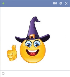 Witch - Halloween Smiley
