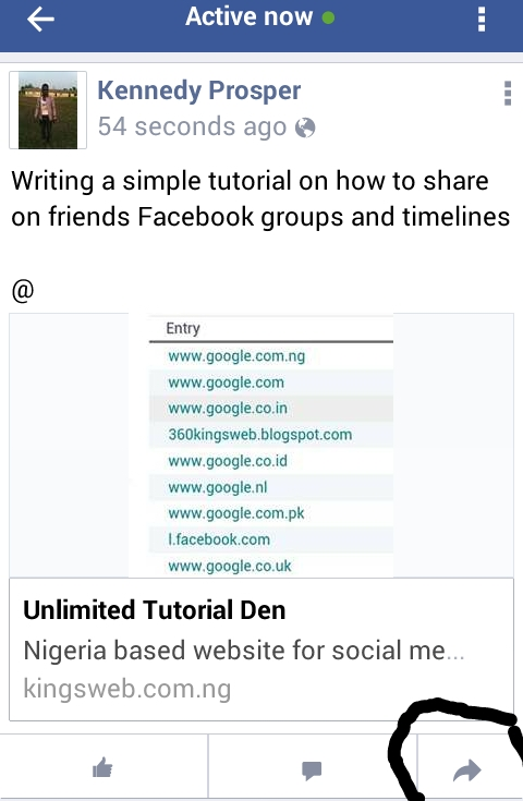 post on other peoples pages groups and timeline on Facebook/