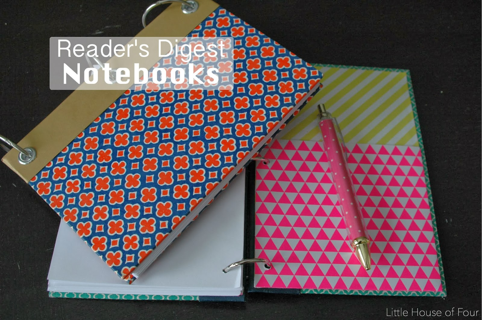 how to make a reader s digest notebook little house of four