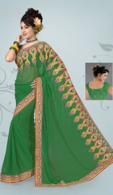 Indian-Embroidered-Saree