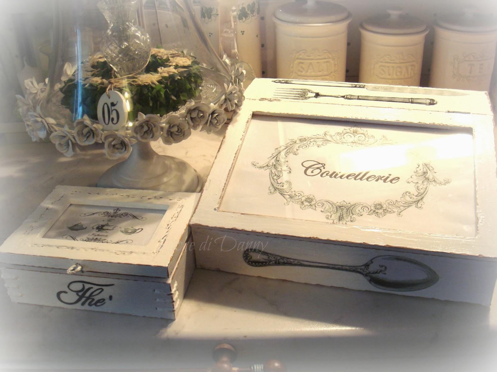 Creazioni con fantasia scatola porta posate e scatola - Scatola porta the ...