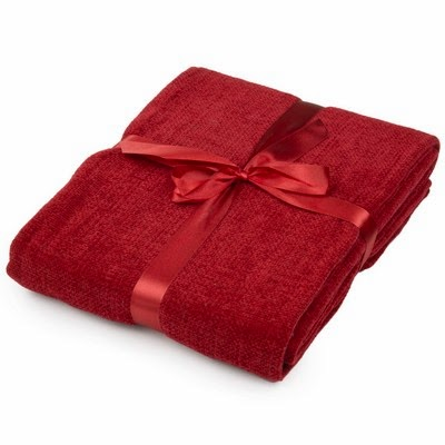 Red Chenille Throw - £18.99 - The Range