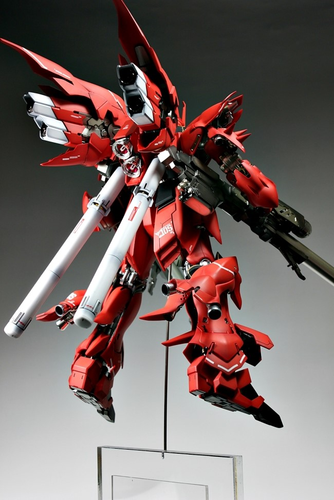 GUNDAM GUY: MG 1/100 MSN-06S Sinanju - Customized Build