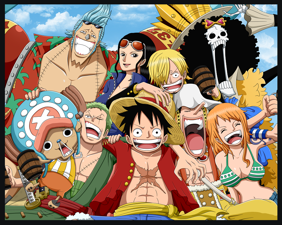Theory trio monster straw hat pirates one piece
