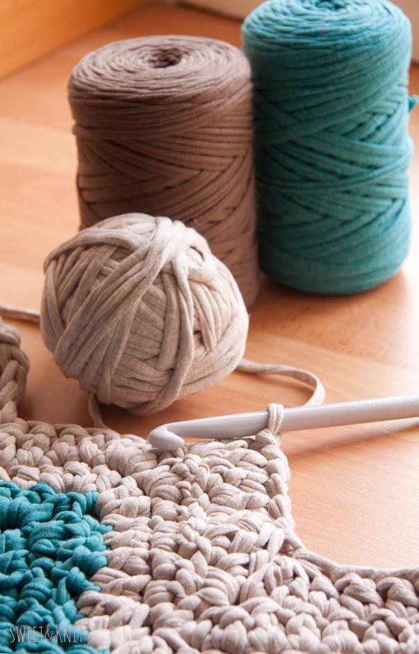 Susimiu tutorial de alfombra de ganchillo xxl rectangular ripple - Alfombras ganchillo trapillo ...