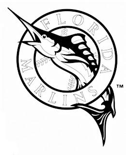 Escudo de los Marlins de Florida para colorear
