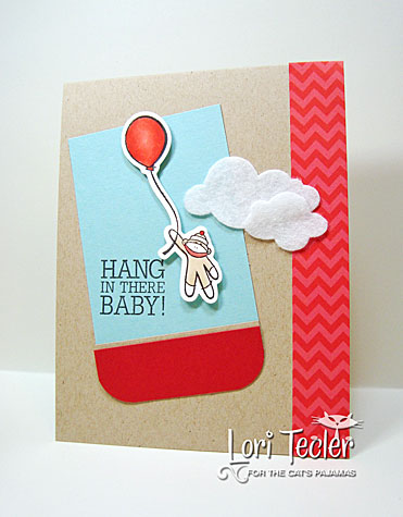 Hang in There card-designed by Lori Tecler/Inking Aloud-stamps and dies from The Cat's Pajamas