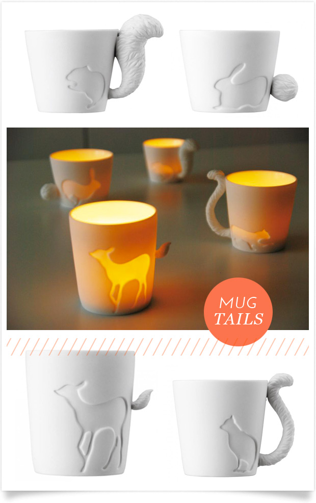 mugtail tea light holders from Hviit