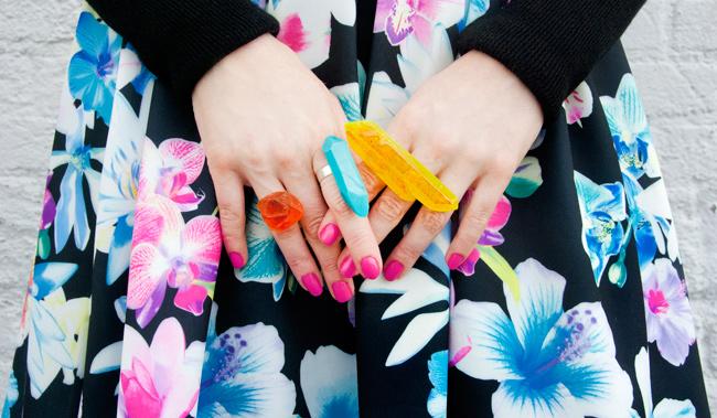 Serena Kuhl, Quiz Clothing, flower print