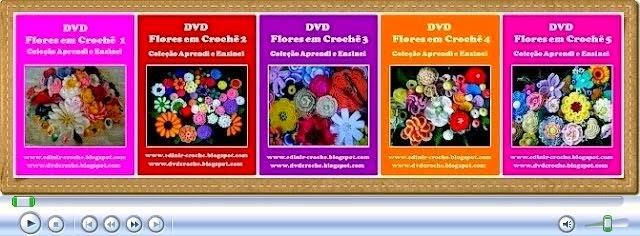 dvd flores cinco volumes aprender croche na loja curso de croche com frete gratis edinir-croche