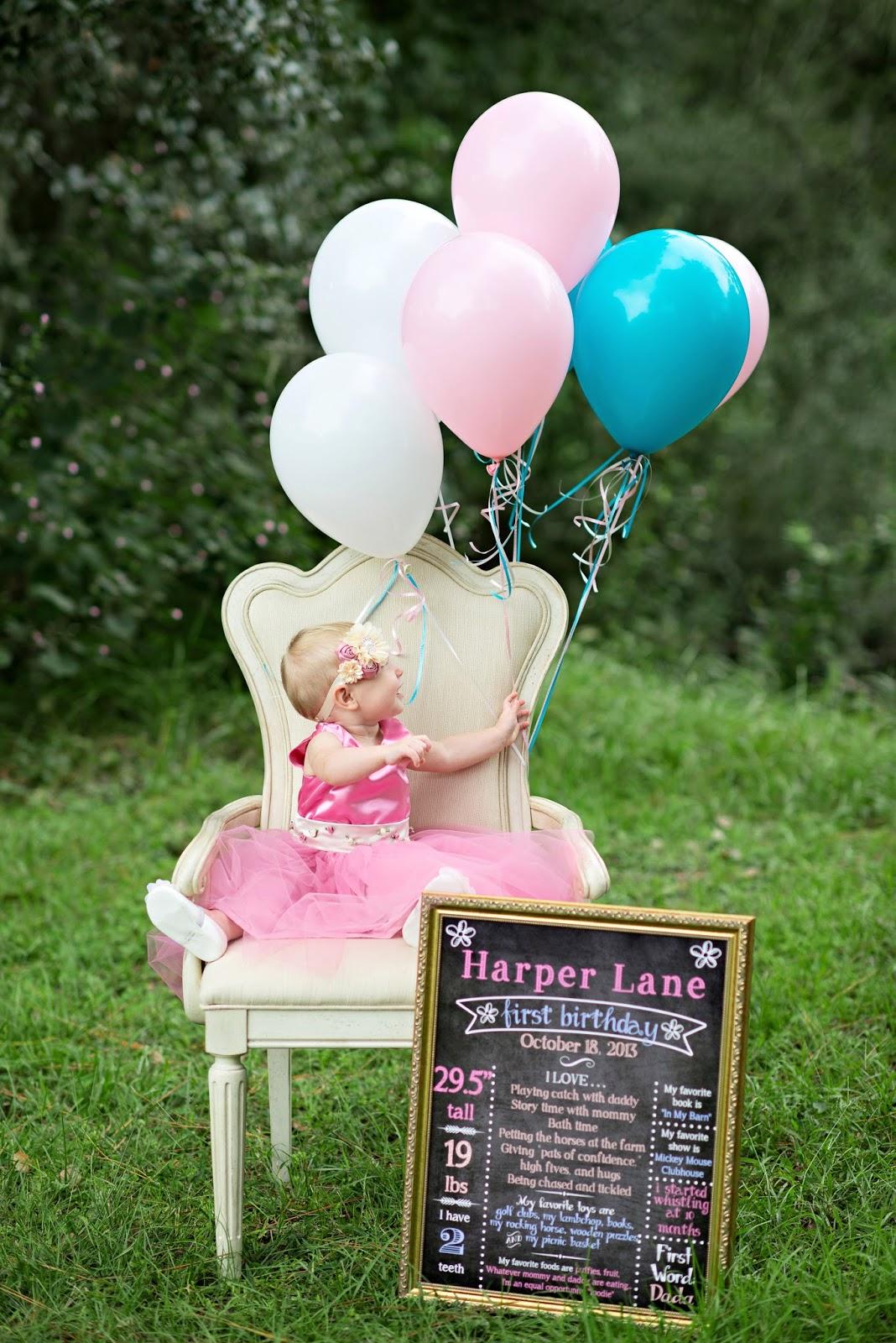 Harper Lanes First Birthday Photoshoot