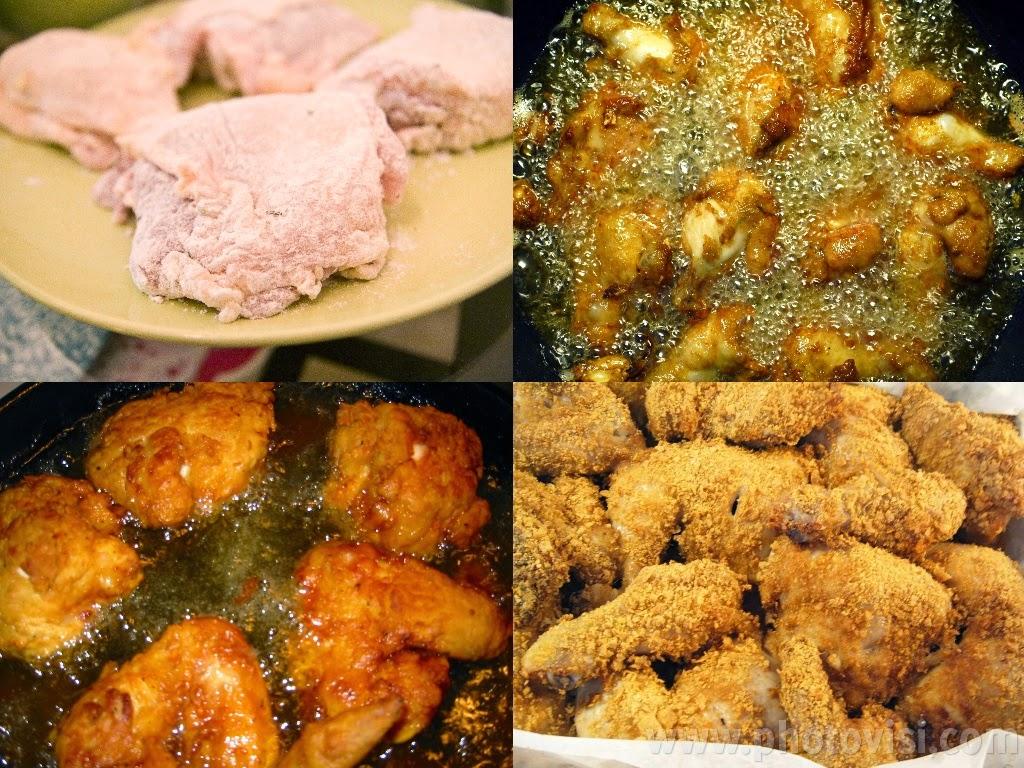 طريقة عمل الدجاج المقلي
