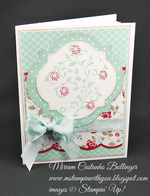Miriam Castanho-Bollinger, #mstampinwithyou, stampin up, demonstrator, farewell card, summer silhouettes, first sight, big shot, large scallop edgelits, window frames collection, su