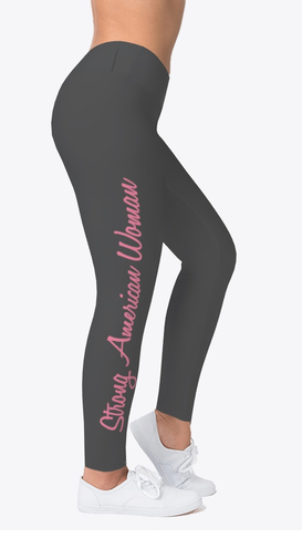 Strong American Woman Work Out Wear