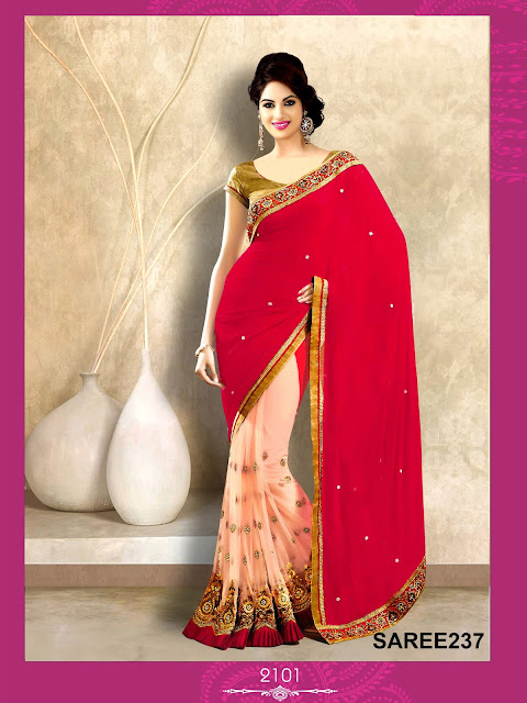Designer Half Party Wear Sarees Online Shopping