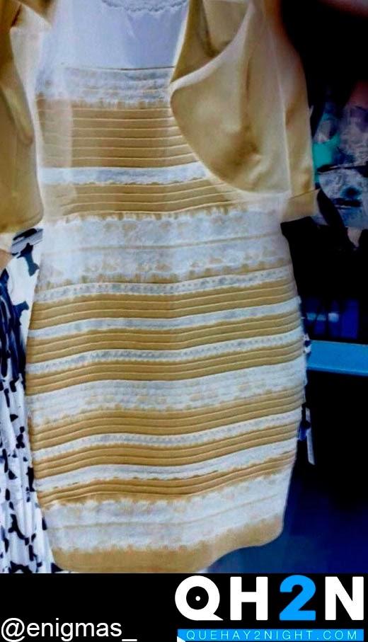 negativo azul negro dorado blanco colores hoax truco