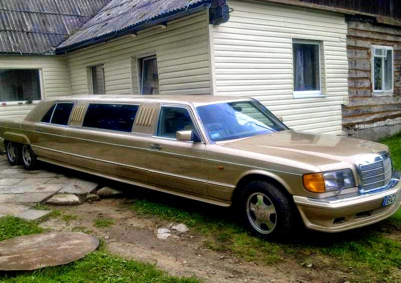 Mercedes benz w126 500sel limousine benztuning for Mercedes benz limo