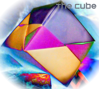 how to make a paper square cube