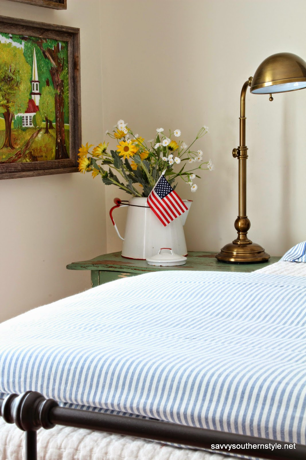 Patriotic Bedroom Savvy Southern Style A Patriotic Favorite Room