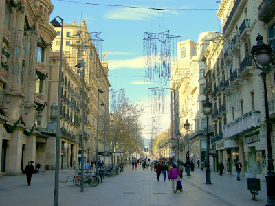 El Portal de l' Angel shopping street in Barcelona