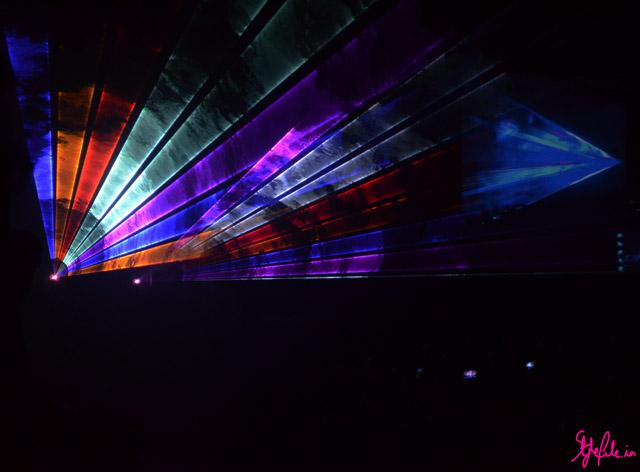 Laser show for pria kataria puri at lakme fashion week 2013