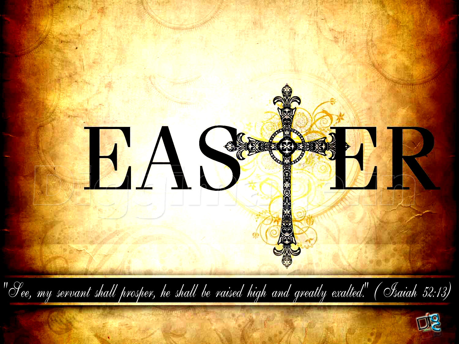 Easter Greeting Wallpaper Background