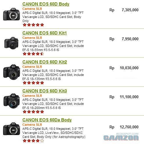 harga Canon EOS 60D